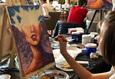 Мастер-класс по рисованию акрилом: «Девушка-океан» 2