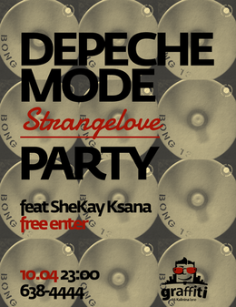 Depeche Mode StrangeLove Party