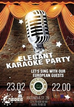 Elegant karaoke party