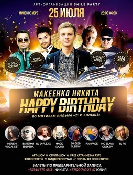 Happy birthday, Макеенко Никита