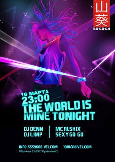 The world is mine tonight