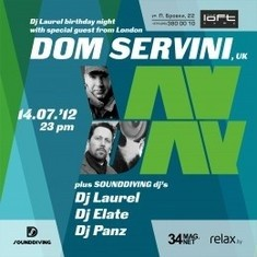 Sounddiving — Dj Laurel Birthday Night with Dom Servini, WahWah 45's UK