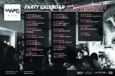 Party Calendar бара «Малако»