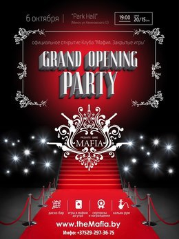 Grand Opening Mafia party