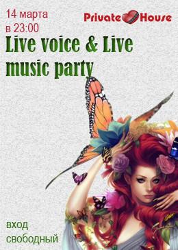 Live voice & Live music party