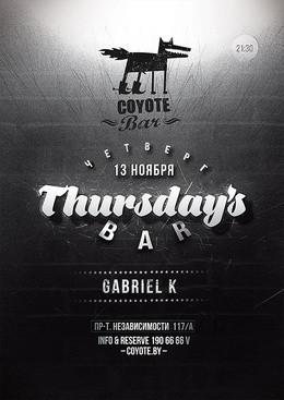 Thursday's Bar. Gabriel K