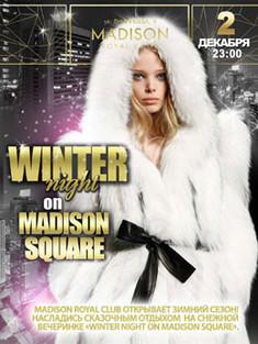 Winter night on Madison Square