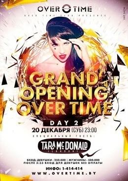 Открытие клуба «Овертайм». Tara Mcdonald (live show)