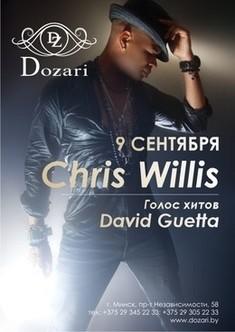 Chris Willis (голос хитов David Guetta) в клубе Dozari