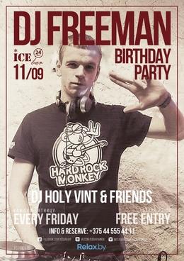 DJ Freeman Birthday party
