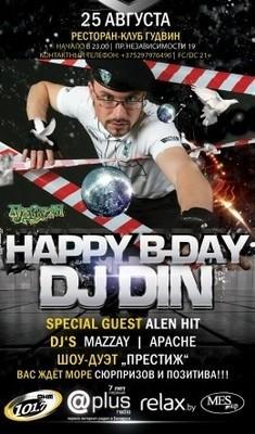 Happy birthday Dj Din aka Dino Rosso