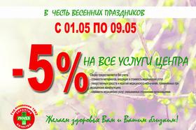 Скидки распустились: весенние предложения от «ЛОДЭ» в филиалах г. Бреста с 01 по 09 мая!
