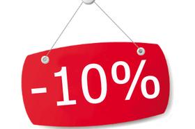 Cкидка 10% на весь товар при покупке на 50,00 руб.