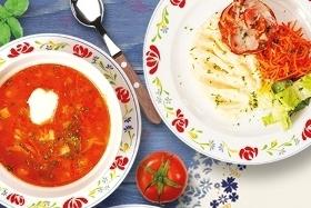 Новое обеденное меню в ресторанах народной кухни «Васильки»