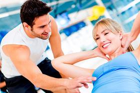 Тренировки в тренажерном зале с персональным тренером