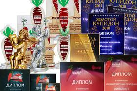 Каждый год мы подтверждаем свой профессионализм на престижных премиях в области event-индустрии