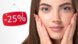 Скидка 25% на все виды косметических услуг и на депиляцию