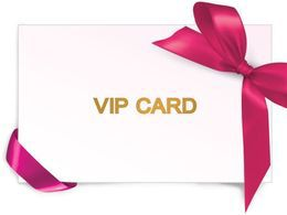 Скидка 5% VIP-карты постоянным клиентам