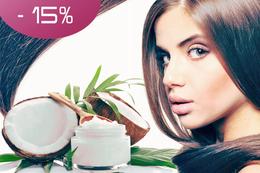 Скидка 15% на уход для волос «Сила кокоса»