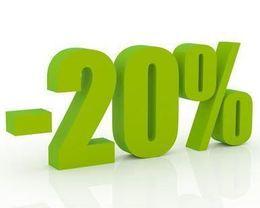 Скидка 20% при заказе пицц на вынос