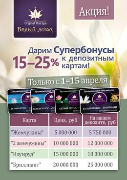 Супербонусы к депозитным картам: дополнительные 15-25% на счет карты