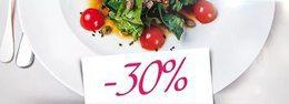 Кафе и рестораны Скидка 30% на основное меню в обеденное время До 31 декабря