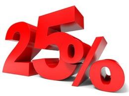 Скидка 25% на 1-ую покупку