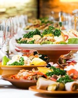 Скидка 25% на банкетные блюда навынос
