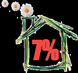 Скидка 7% на проживание