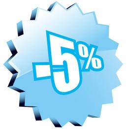 Скидка 5% на любой тур