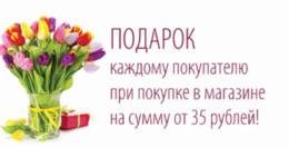 Акция «Купите на сумму от 35 рублей и получите подарок»