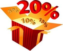 Акция «Каждый вторник и четверг скидка для всех клиентов 20%»