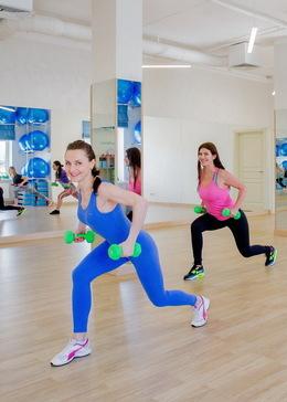 Скидка 20% на первый абонемент в фитнес-клуб + пробное занятие бесплатно