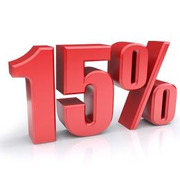 Скидка 15% в случае аренды от 10 дней