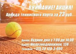 Прочее Акция «Аренда теннисного корта за 23.00 руб.» До 31 марта