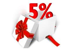 Скидка 5% на заезды в санатории + подарок