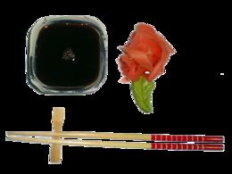 Акция «При заказе суши–палочки,соус,имбирь,вассаби в подарок»