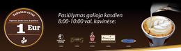 Акция «Чашечка утреннего кофе только за 1 Eur»