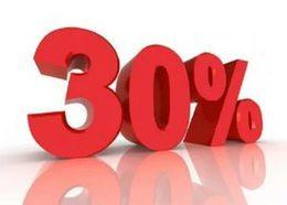 Акция «Для родителей-одиночек и многодетных семей скидка 30%»