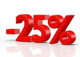 Скидка 25% на приобретение абонемента