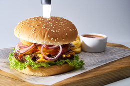 Скидка 40% на бургер «Дядя Сэм»