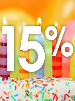 Скидка 15% именинникам на услуги по проживанию