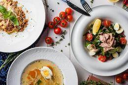 Скидка 20% на блюда основного меню по будням с 12.00 до 16.00