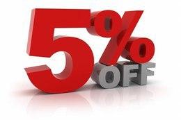 Скидка 5% при раннем бронировании свадьбы или банкета