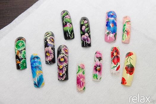 Мастер класс рисунки на ногтях акриловыми красками