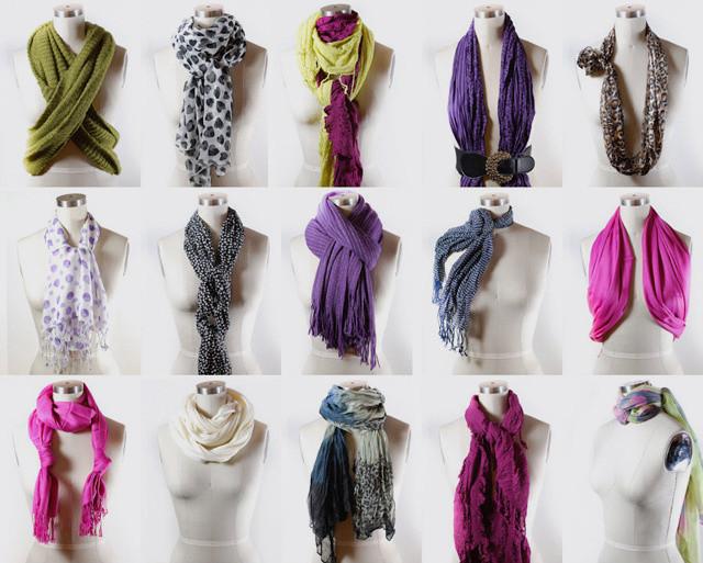 завязывания шарфов вместе