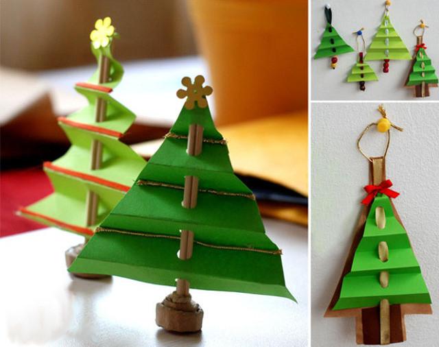 Как сделать елку из бумаги.