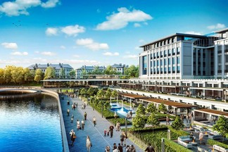 Фотофакт: как будет выглядеть арабский комплекс, который построят на месте НВЦ «БэлЭкспо» и второй больницы