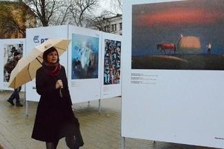 Открылась выставка «Художник и город» под открытым небом
