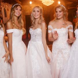 Показ свадебных платьев Claude Monet